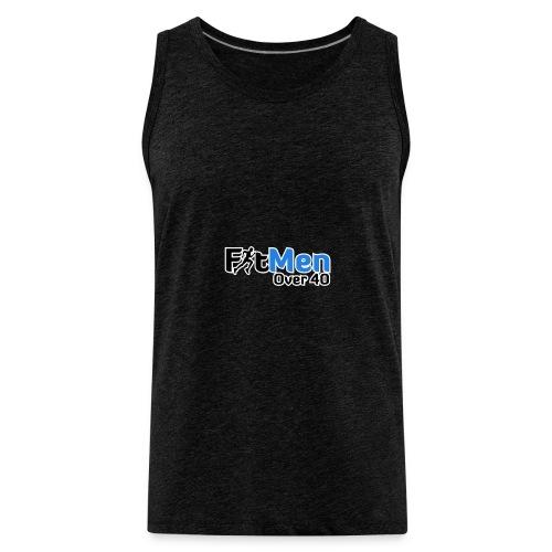 Fit Men Over 40 V-Neck Short Sleeve Shirt - Men's Premium Tank