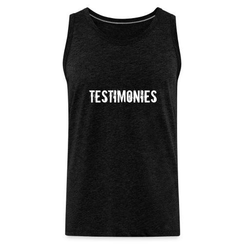 Testimonies Shirt - Men's Premium Tank