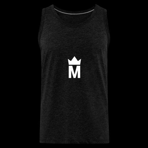 White Majesty Logo - Men's Premium Tank