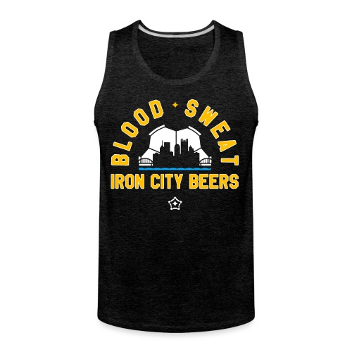 Blood, Sweat and Iron City Beers - Men's Premium Tank