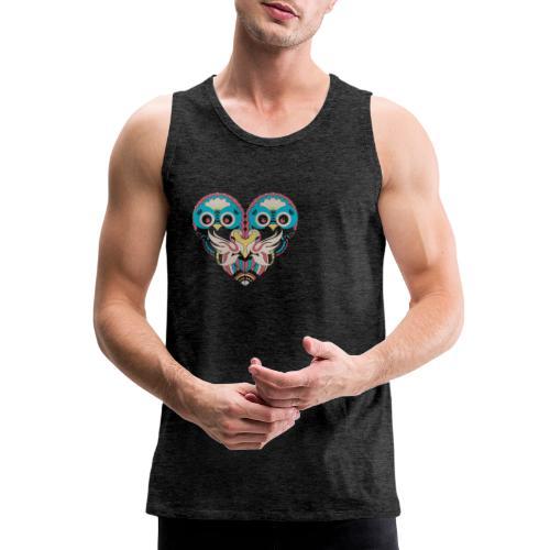Cool Couple Heart Design Artistic Shirt - Men's Premium Tank