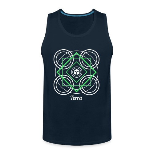 Terra Earth Element Alchemy Design - Men's Premium Tank