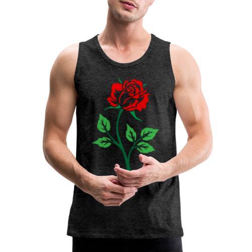 Red Rose - Men's Premium Tank