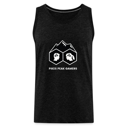 Pikes Peak Gamers Logo (Solid Black) - Men's Premium Tank