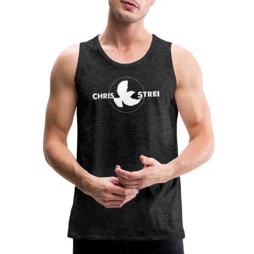 Chris Strei BlackBird Logo (white) - Men's Premium Tank