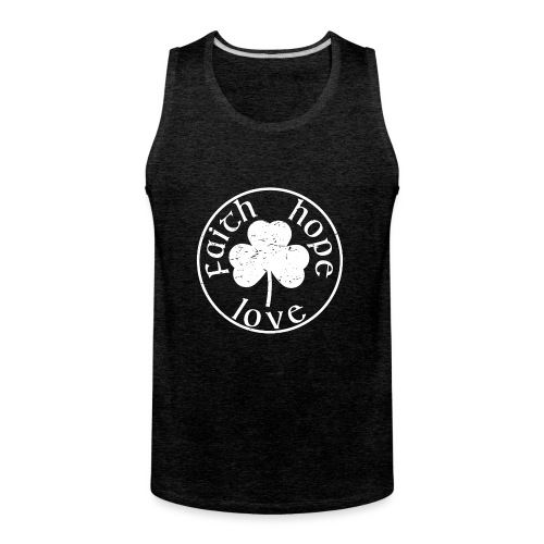 Irish Shamrock Faith Hope Love - Men's Premium Tank