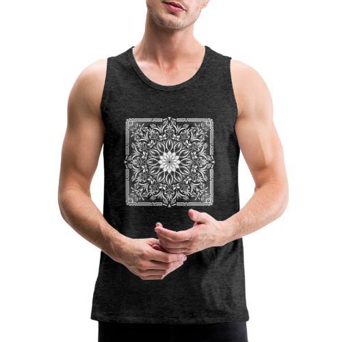 Psychedelic Mandala Geometric Illustration - Men's Premium Tank