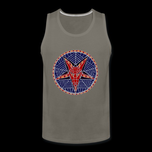 Corpsewood Stained-Glass Baphomet - Men's Premium Tank