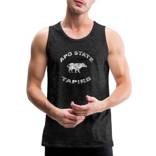 Apostate tapirs logo white - Men's Premium Tank