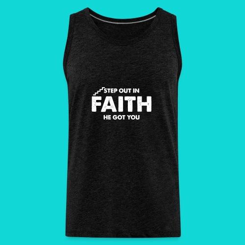 Step Out In Faith - Men's Premium Tank