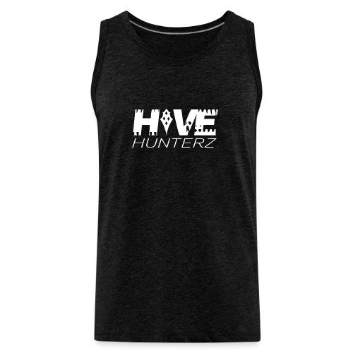 White Hive Hunterz Logo - Men's Premium Tank