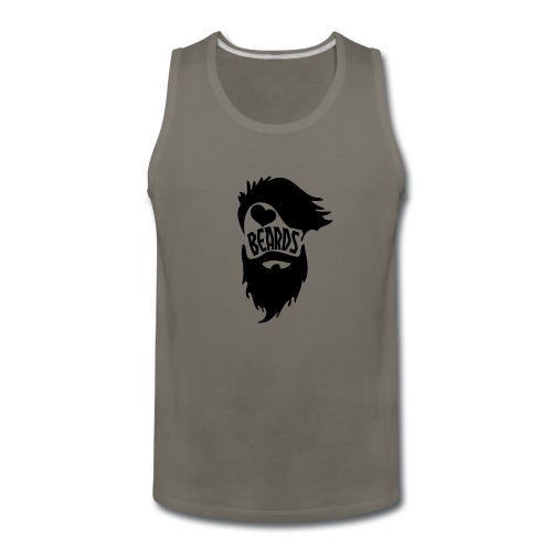 I Love Beards - Men's Premium Tank