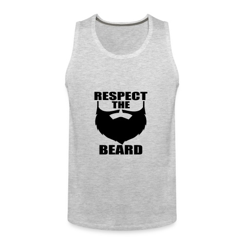 Respect the beard 03 - Men's Premium Tank