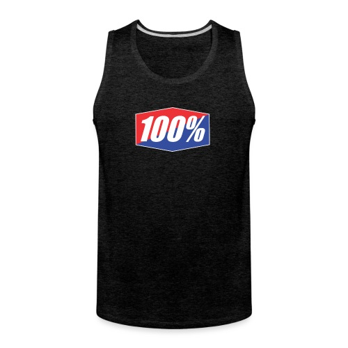 100% Logo Design - Men's Premium Tank