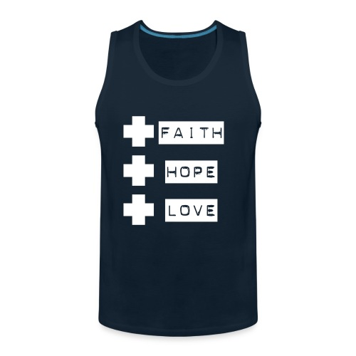 3 crosses , faith hope love - Men's Premium Tank