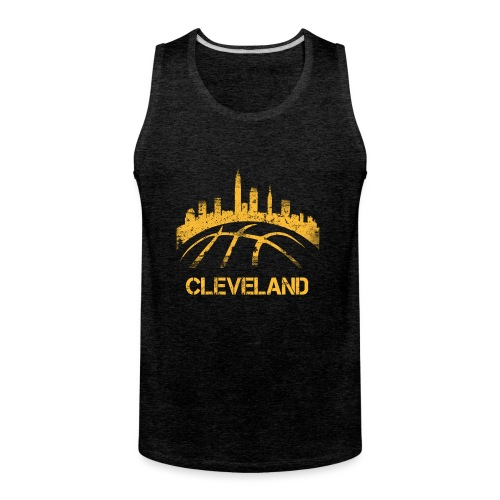 Cleveland Basketball Skyline - Men's Premium Tank