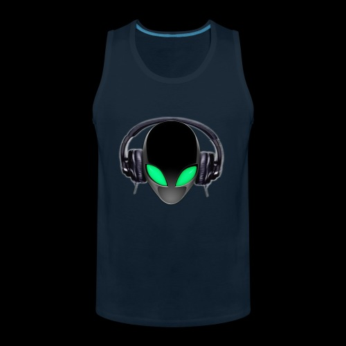 Alien Music Lover DJ (Simplified Fit All Design) - Men's Premium Tank