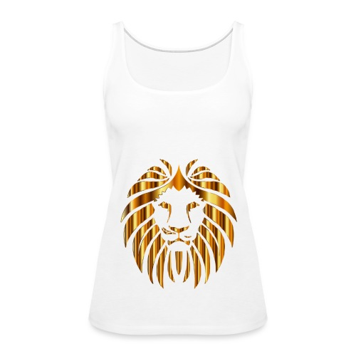 Gold Lion Design - Women's Premium Tank Top