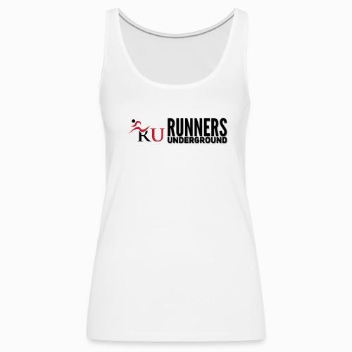 Runners Underground Logo BLK - Women's Premium Tank Top