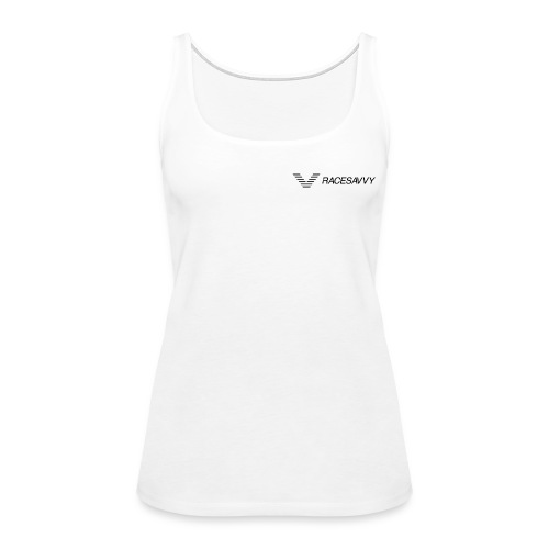 RaceSavvy Black Logo - Women's Premium Tank Top