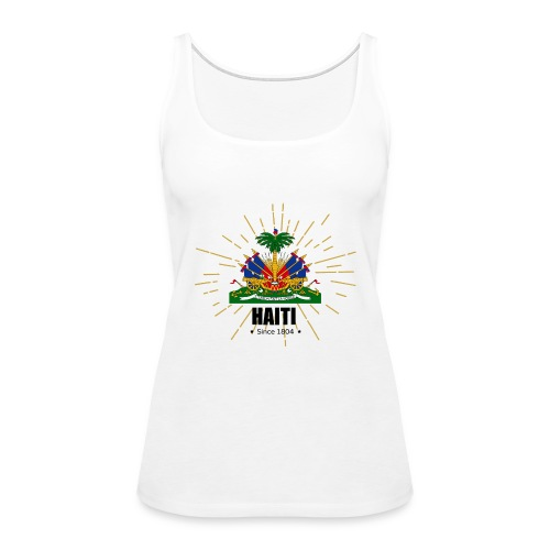 Haiti Emblem - Women's Premium Tank Top