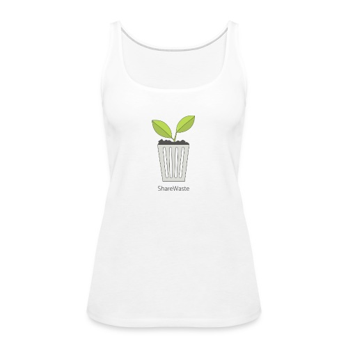 ShareWaste logo - Women's Premium Tank Top