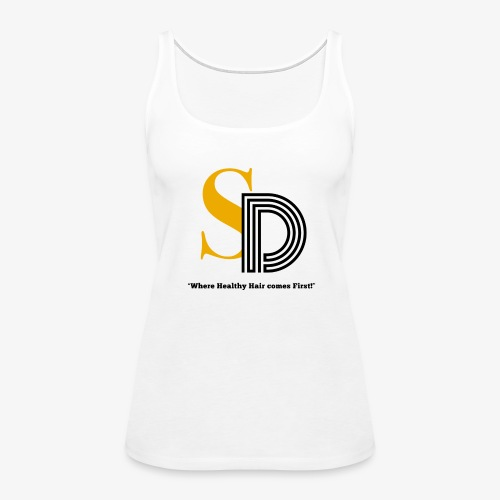 SD striped logo - Women's Premium Tank Top