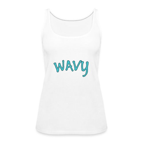 Wavy Blue - Women's Premium Tank Top
