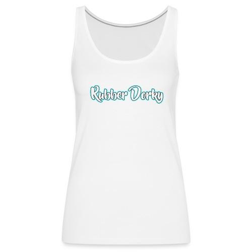 Rubber Dorky - Logo (name) - Women's Premium Tank Top