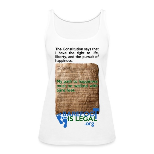 Constitution path to happiness - Women's Premium Tank Top