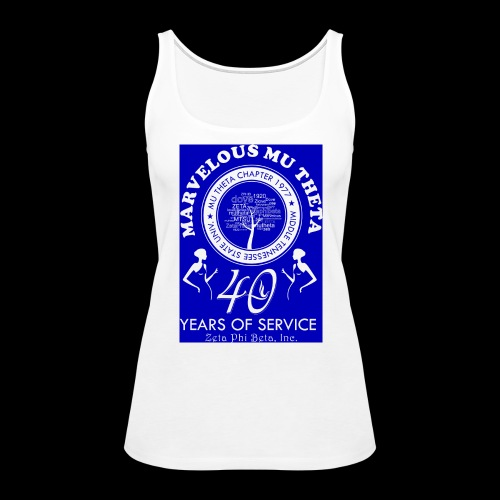 Mu Theta 40th anniversary celebration - Women's Premium Tank Top