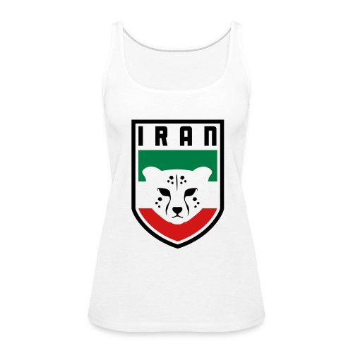 Iran Cheetah Badge - Women's Premium Tank Top