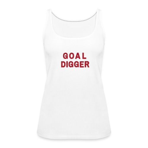 Red Glitter Goal Digger - Women's Premium Tank Top