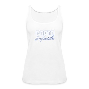 PROTO HUSTLE LOGO BLUE - Women's Premium Tank Top