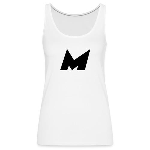 Official Black Mystic Logo (M Letter Logo) - Women's Premium Tank Top