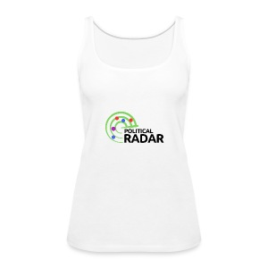 Political Radar Logo - Black - Women's Premium Tank Top