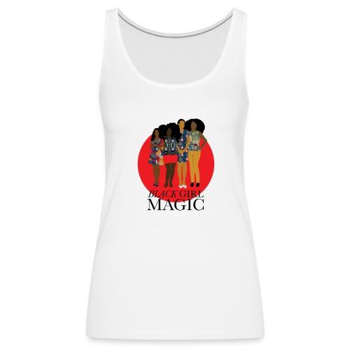 Red Pink Black girl Magic Design 2 - Women's Premium Tank Top