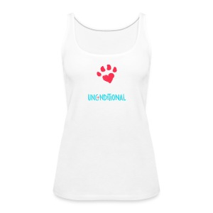 Project Unconditional Love Paw with Logo - Women's Premium Tank Top