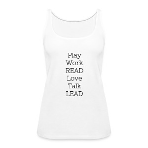 Play_Work_Read - Women's Premium Tank Top