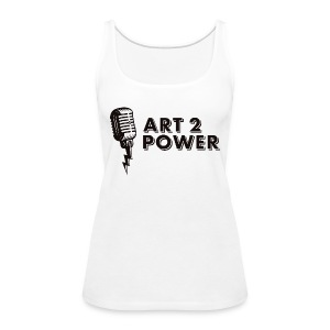 ART 2 POWER - black logo - Women's Premium Tank Top