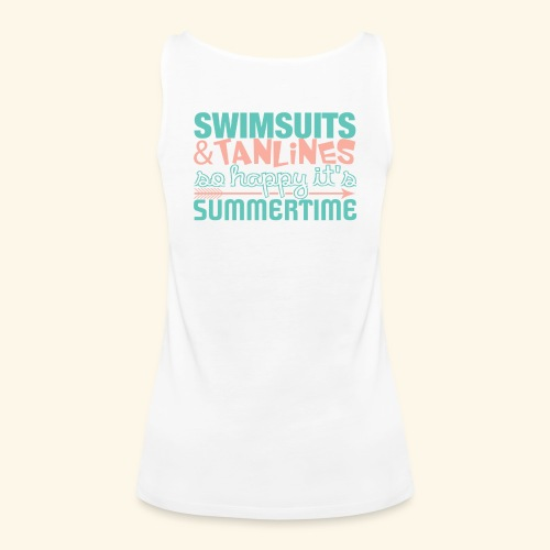 Swimsuits and Tanlines - Women's Premium Tank Top