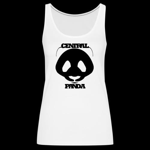 Central Panda in White - Women's Premium Tank Top