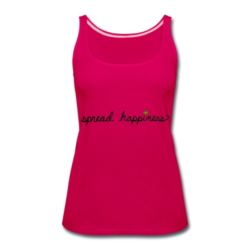 Spread Happiness Women's T-shirt - Women's Premium Tank Top