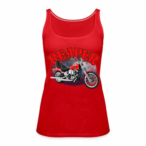 Motorcycle Reaper - Women's Premium Tank Top