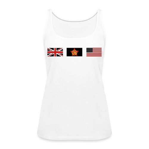 3 ALLIES flags - Women's Premium Tank Top
