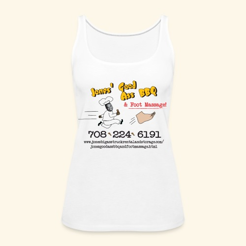 Jones Good Ass BBQ and Foot Massage logo - Women's Premium Tank Top