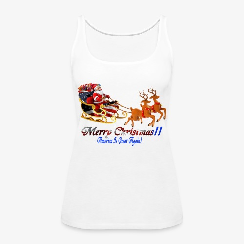 Merry Christmas-America - Women's Premium Tank Top