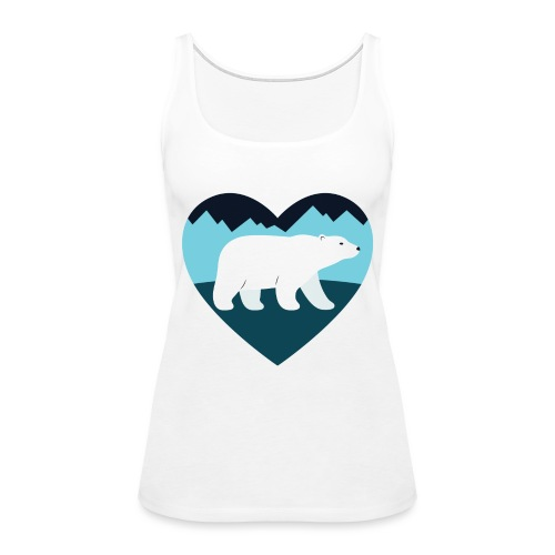Polar Bear Love - Women's Premium Tank Top