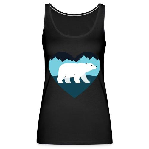 Polar Bear Love - Women's Premium Tank Top