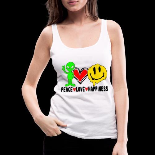 Peace Love Happpiness - Women's Premium Tank Top